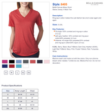 Load image into Gallery viewer, LADIES BE STRONG VNECK TEE