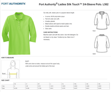 Load image into Gallery viewer, LADIES FISHER of MEN 3/4 SLEEVE SILK TOUCH POLO