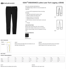 Load image into Gallery viewer, LADIES KEYS TO the KINGDOM OGIO LASER TECH LEGGING PANT