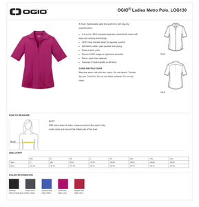 LADIES I'M A DOER OGIO METRO POLO