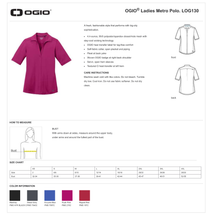 Load image into Gallery viewer, LADIES GIANTSLAYER OGIO METRO POLO
