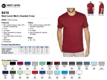 Load image into Gallery viewer, MENS BE LED SUEDED CREW TEE