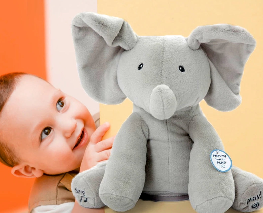 peek a boo elephant plush stuffed toy