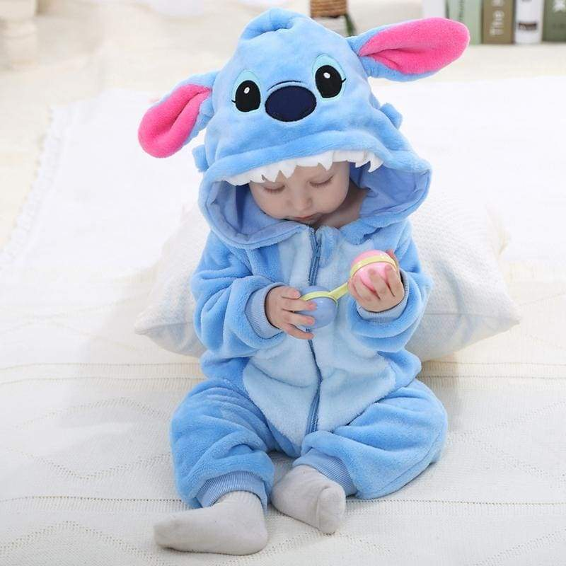 Blu's Baby Boutique Blue Monster Romper Children Store Toddler Newborn Child Infant Baby Kids Online Store
