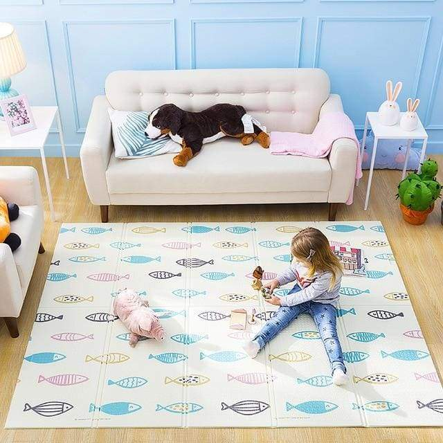 Blu's Baby Boutique Fish and  Friends / 150X200CM 59X78IN Foldable PlayMat Children Store Toddler Newborn Child Infant Baby Kids Online Store