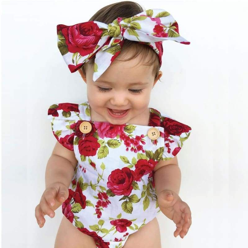 Blu's Baby Boutique Floral Onesie Children Store Toddler Newborn Child Infant Baby Kids Online Store