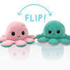 PristinePages Mint Green/Pink Reversible Octopus Emotion Angry Happy Plush Toy Children Store Toddler Newborn Child Infant Baby Kids Online Store