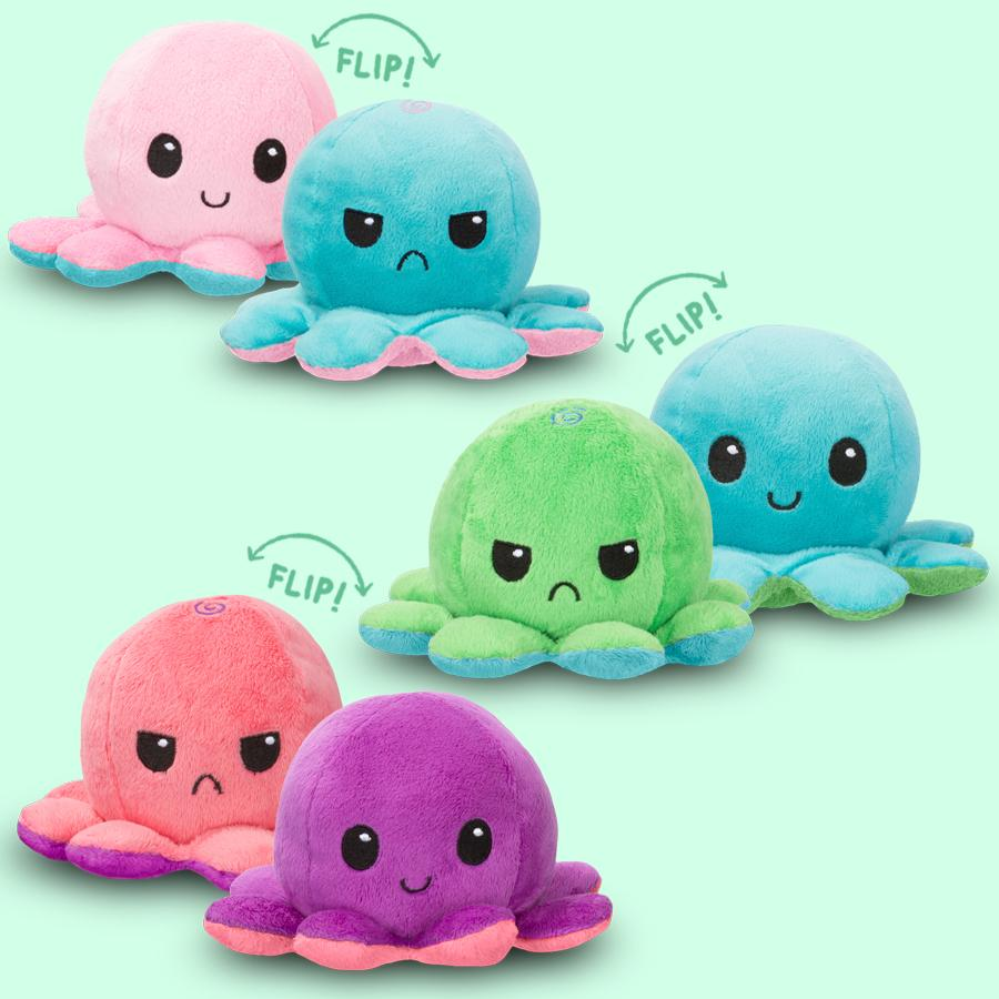 PristinePages Reversible Octopus Emotion Angry Happy Plush Toy Children Store Toddler Newborn Child Infant Baby Kids Online Store