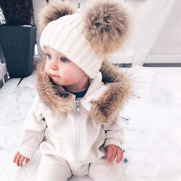 Blu's Baby Boutique Snow White POM POM Baby Hat Children Store Toddler Newborn Child Infant Baby Kids Online Store