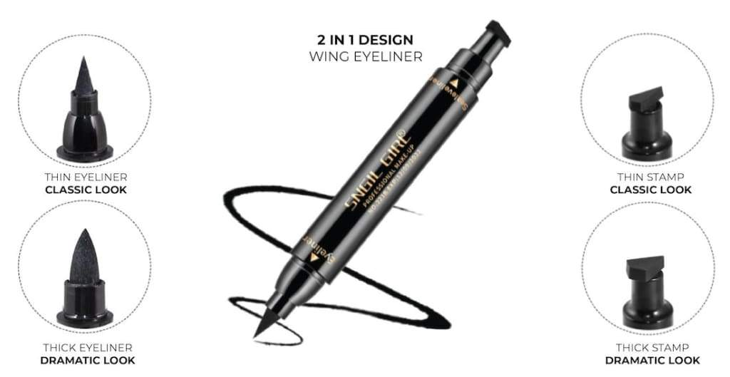 grabsi ultimate wing eyeliner stamp best seller 2 in 1 thick thin perfect