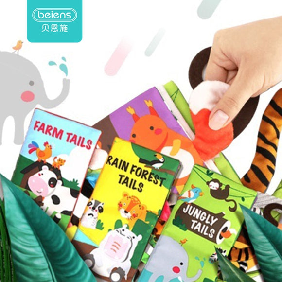 BABY ANIMAL TAILS SOFT BOOK - Brilliant Age Products
