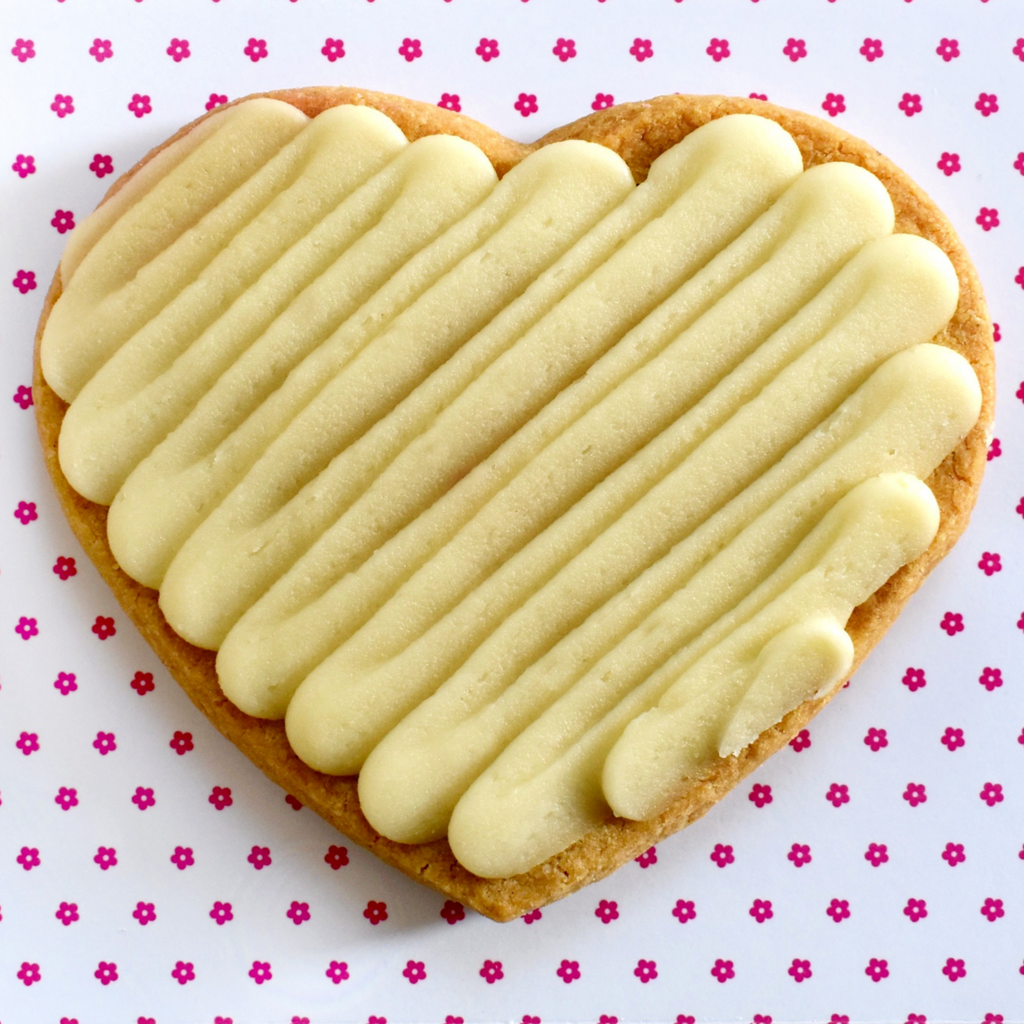 Heart 2.5oz Whole Wheat Shortbread Individually Wrapped