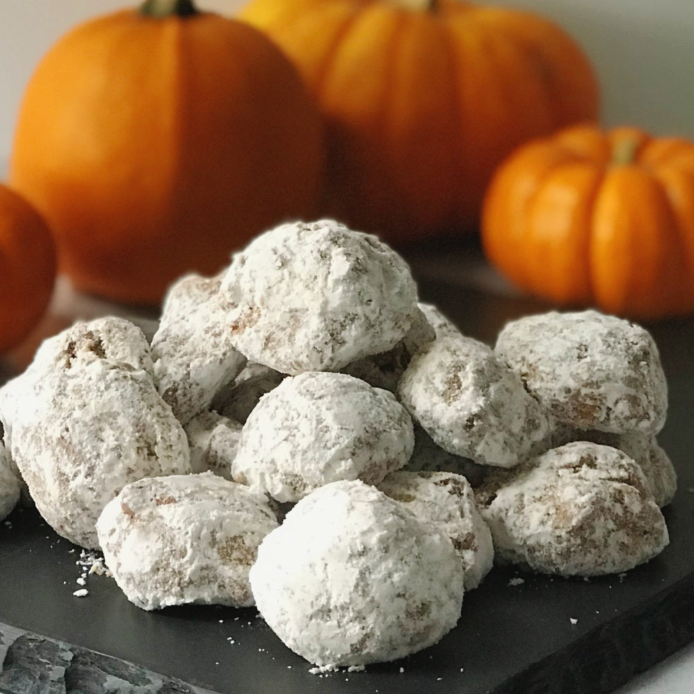 Pumpkin Spice Russian Tea Cakes