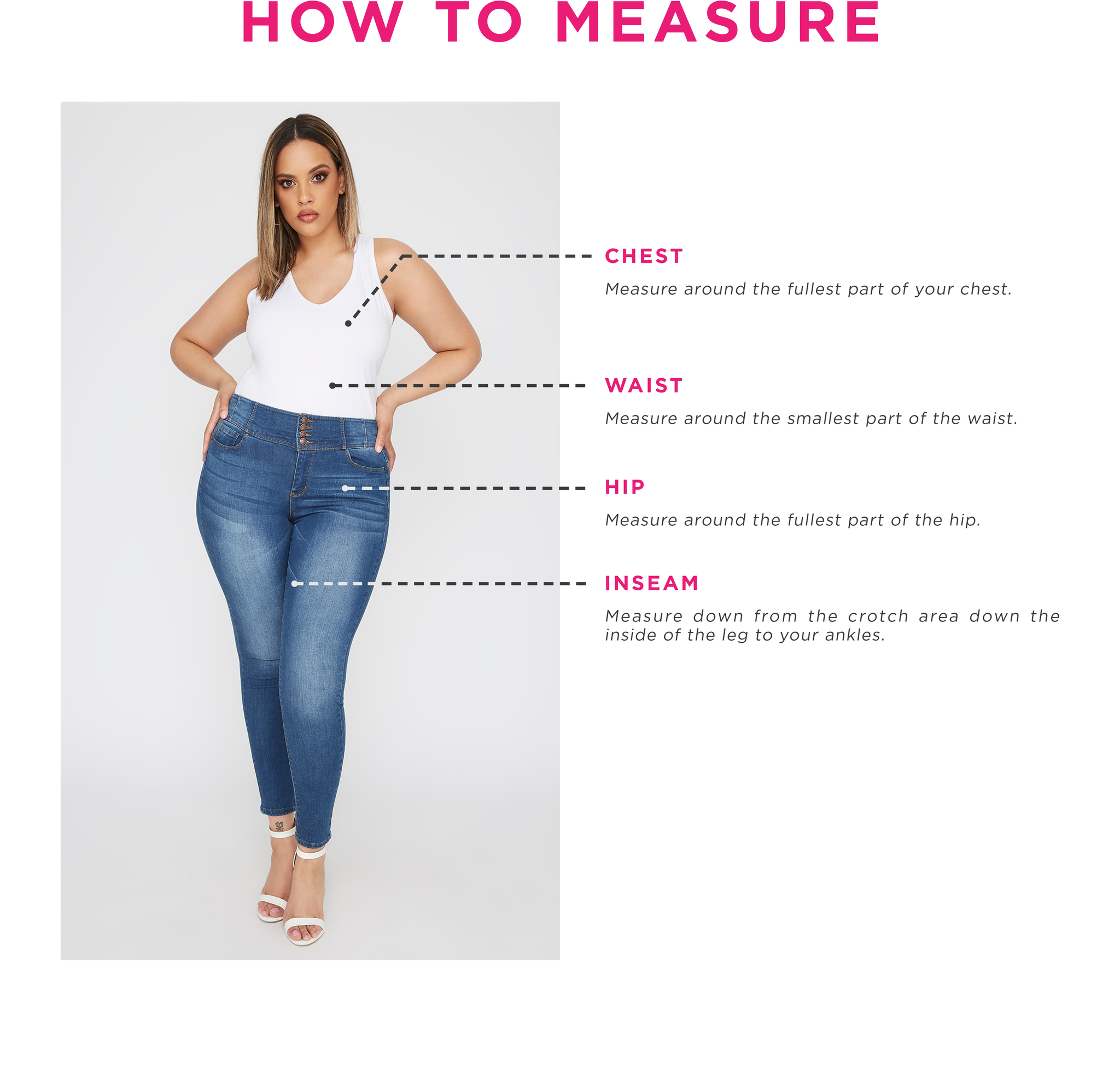 Charlotte Russe - Women's Plus - How To Measure
