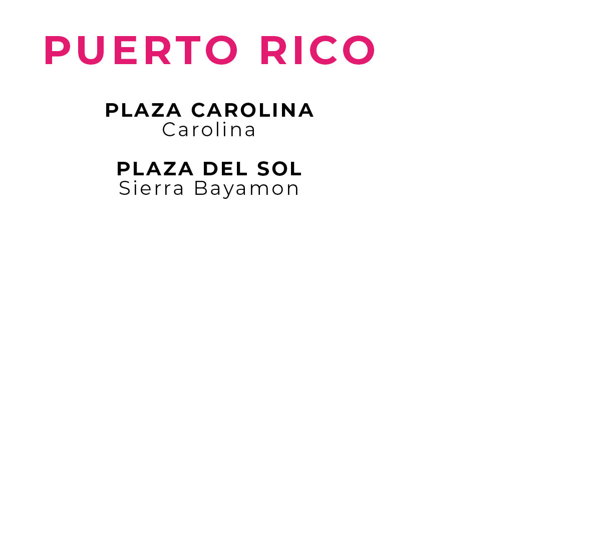 Charlotte Russe | Store Locations - Puerto Rico