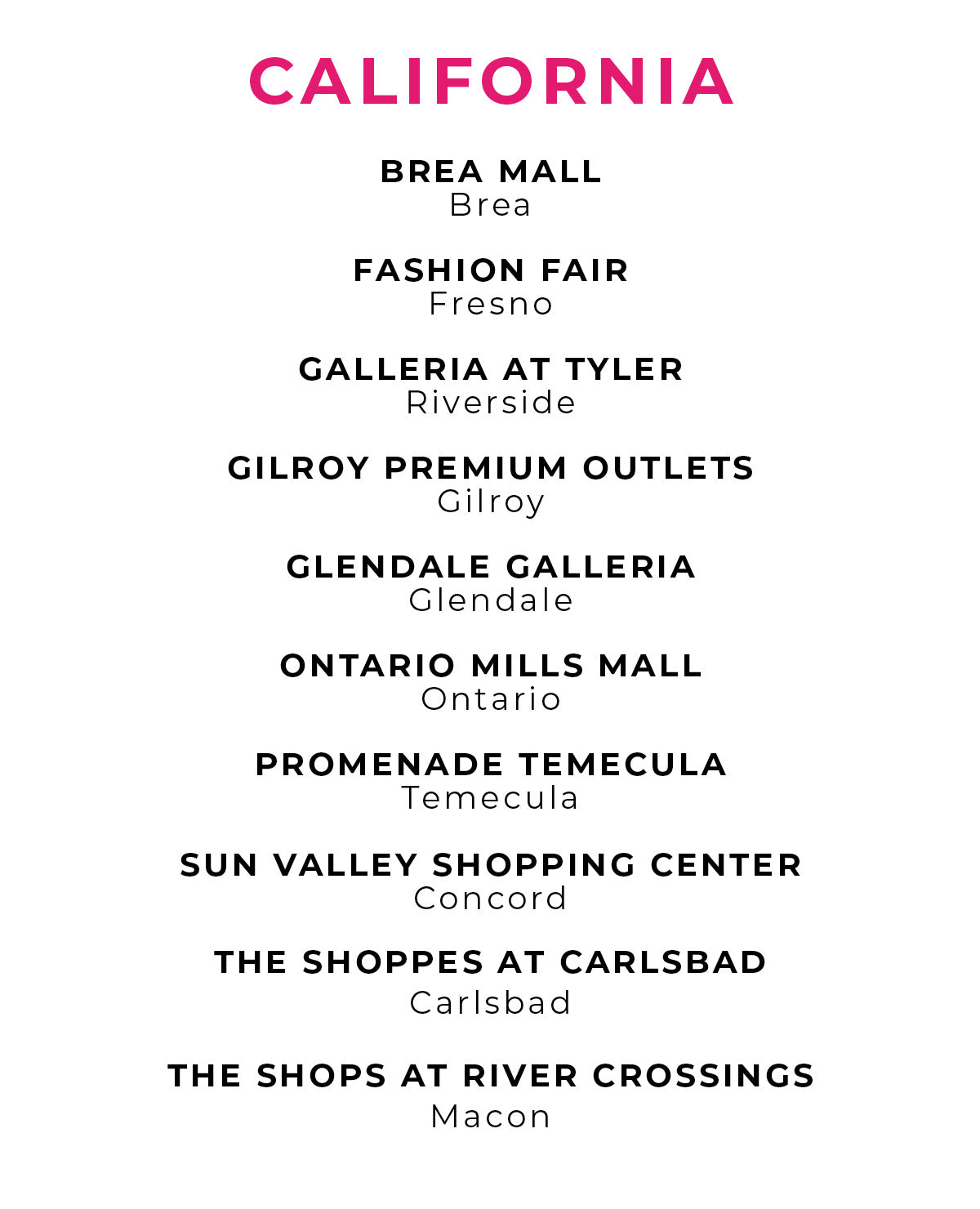 Charlotte Russe | Store Locations - California