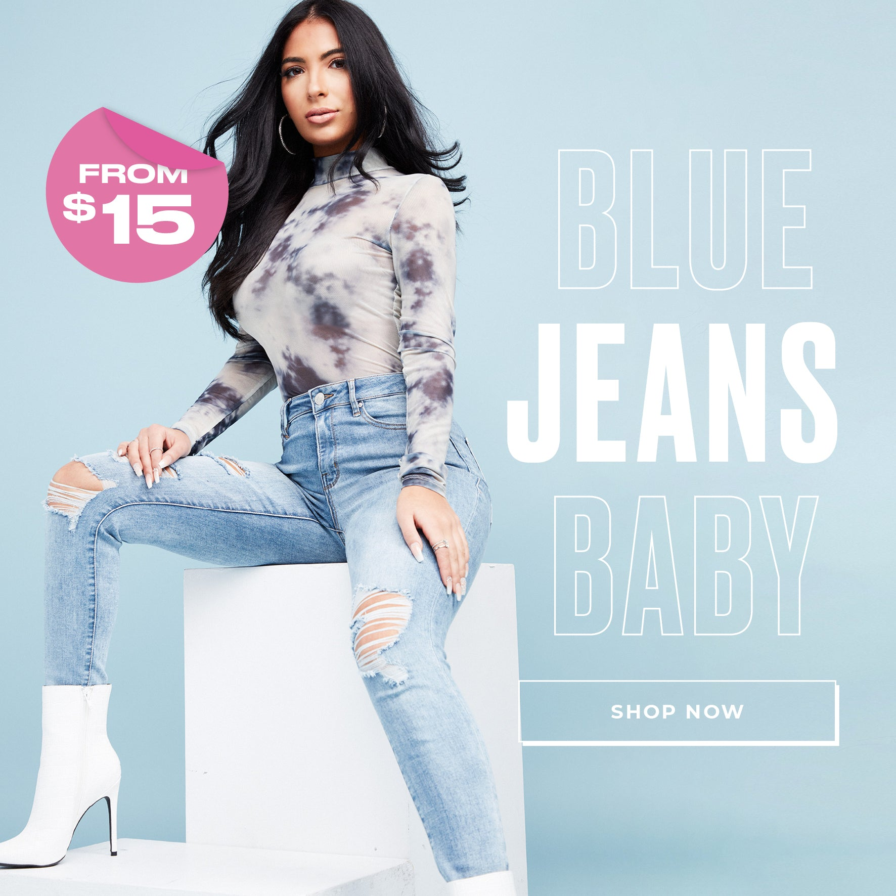 Charlotte Russe | Blue Jeans Baby - Shop Now from $15