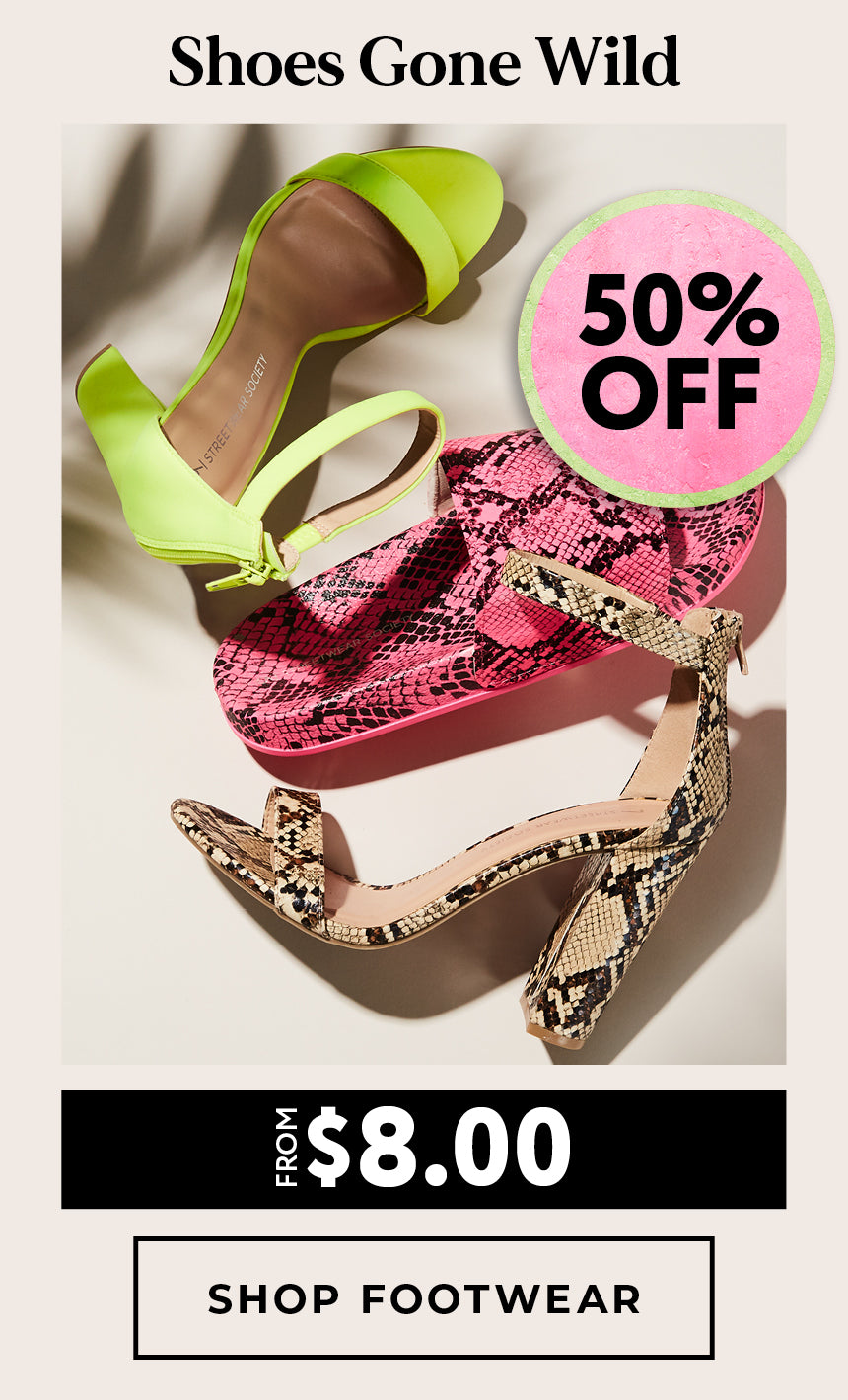 Charlotte Russe | All Footwear 50% Off - Shop now