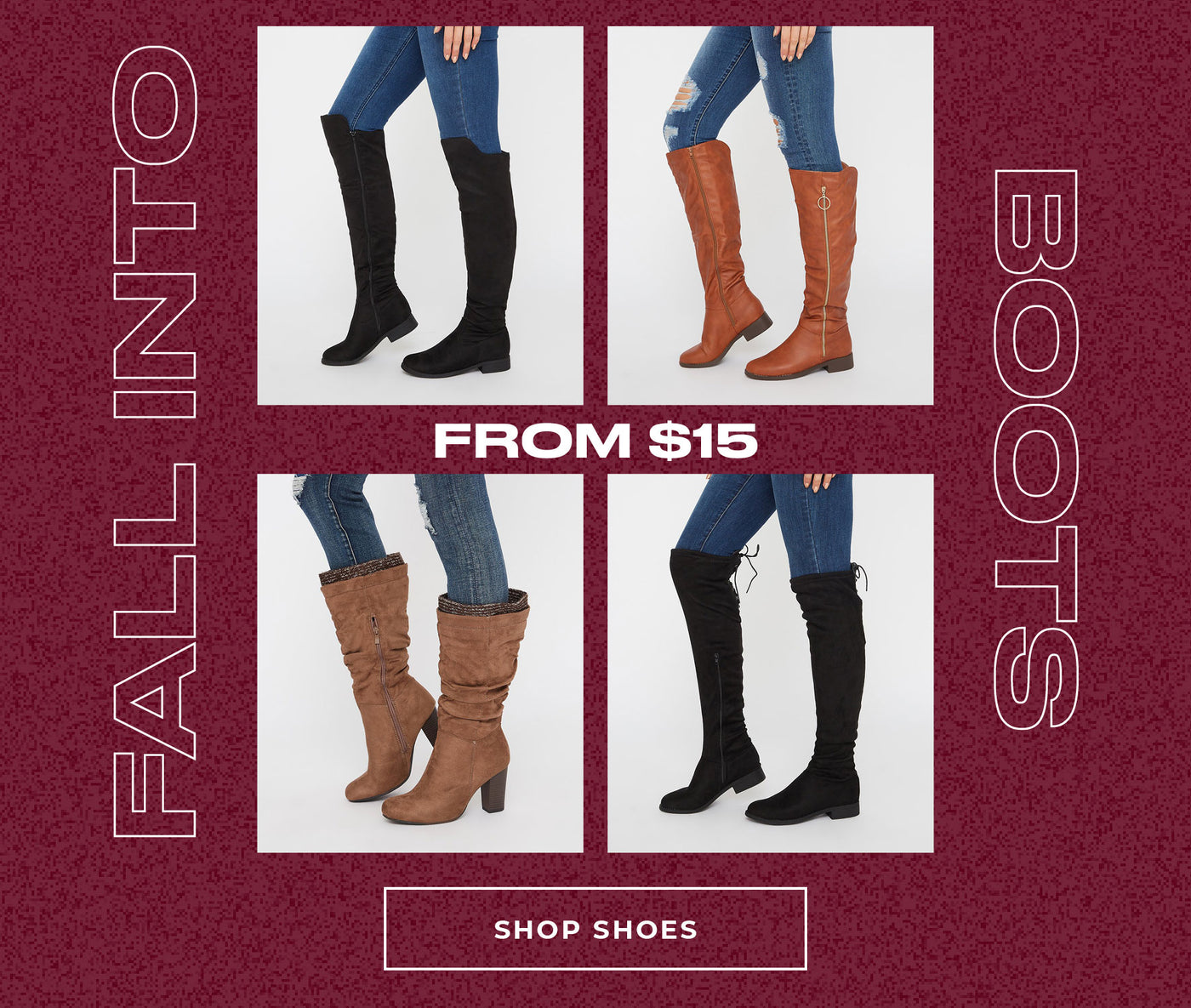 Charlotte Russe | Fall Into Boots - From $15 - Shop Shoes