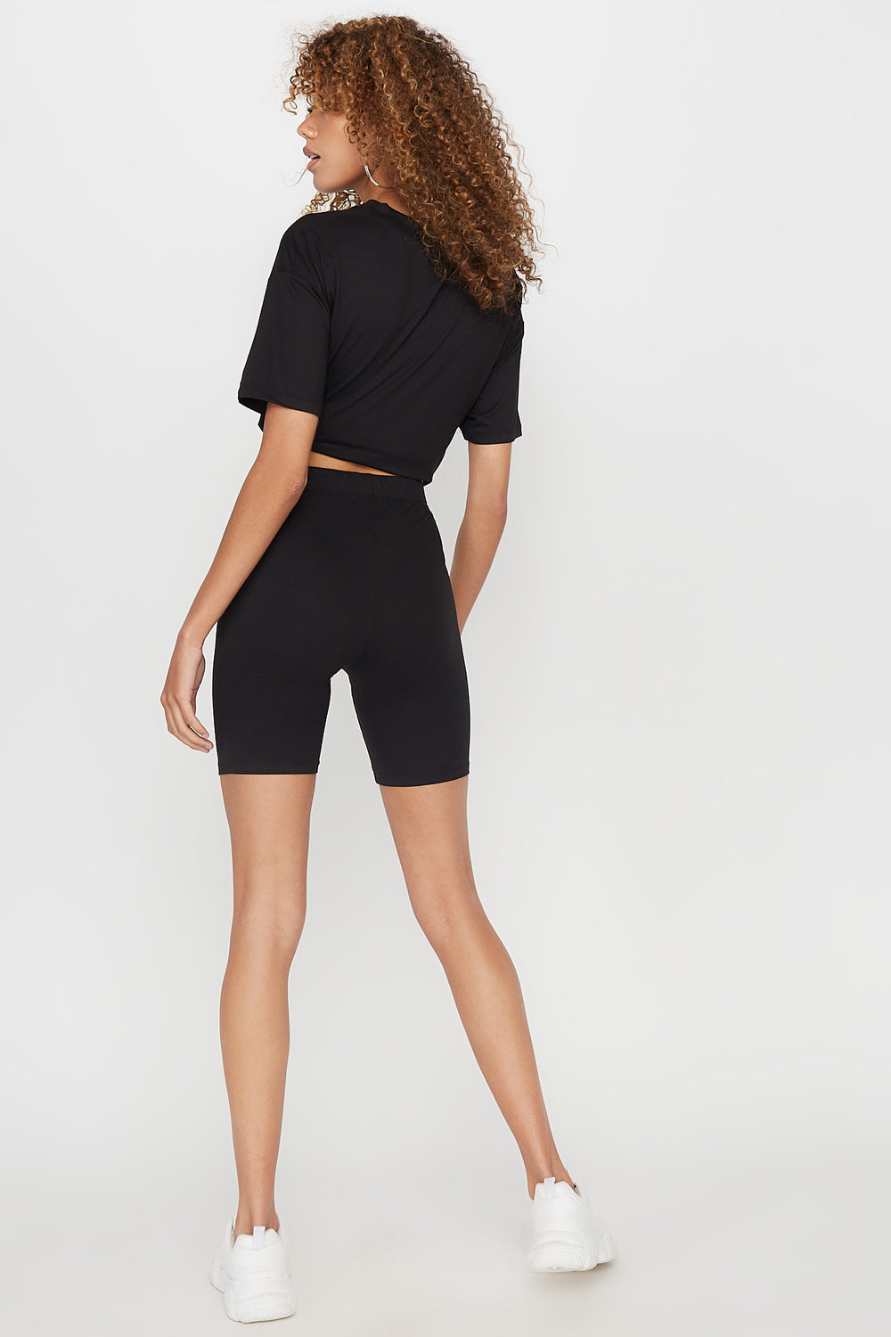 High-Rise Biker Short Black