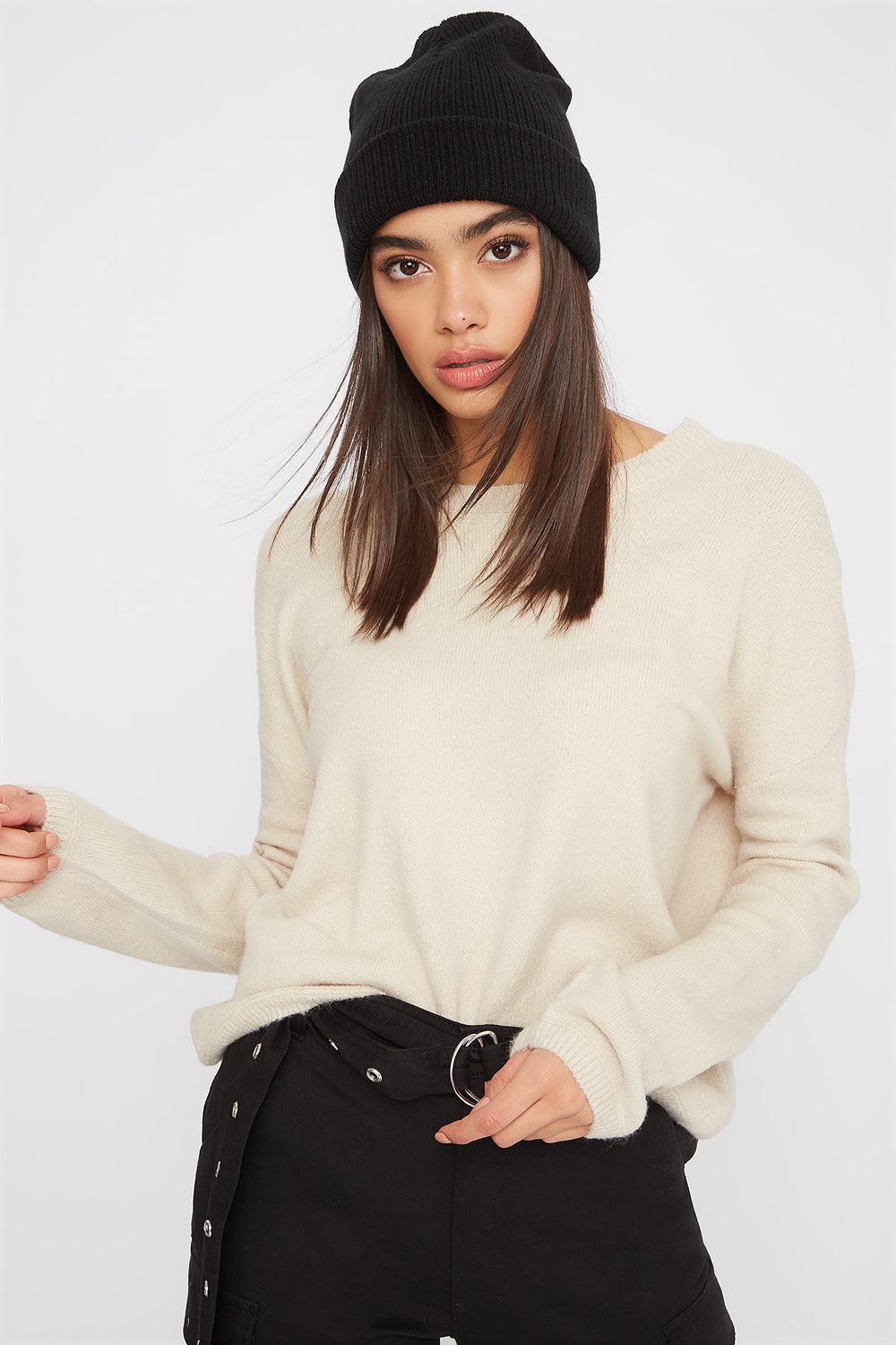 Mossy Crew Neck Sweater Oatmeal