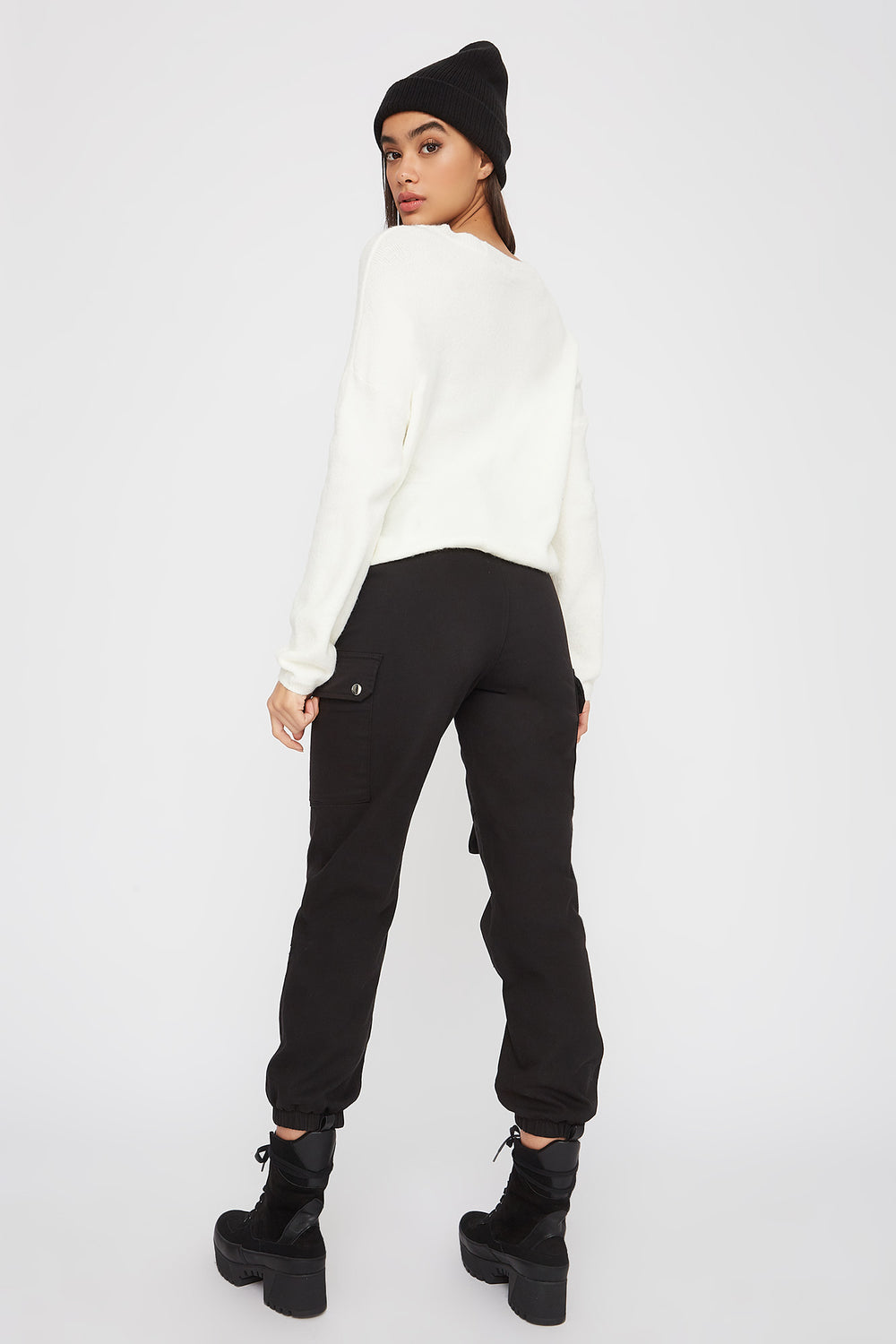 Mossy Crew Neck Sweater Ivory