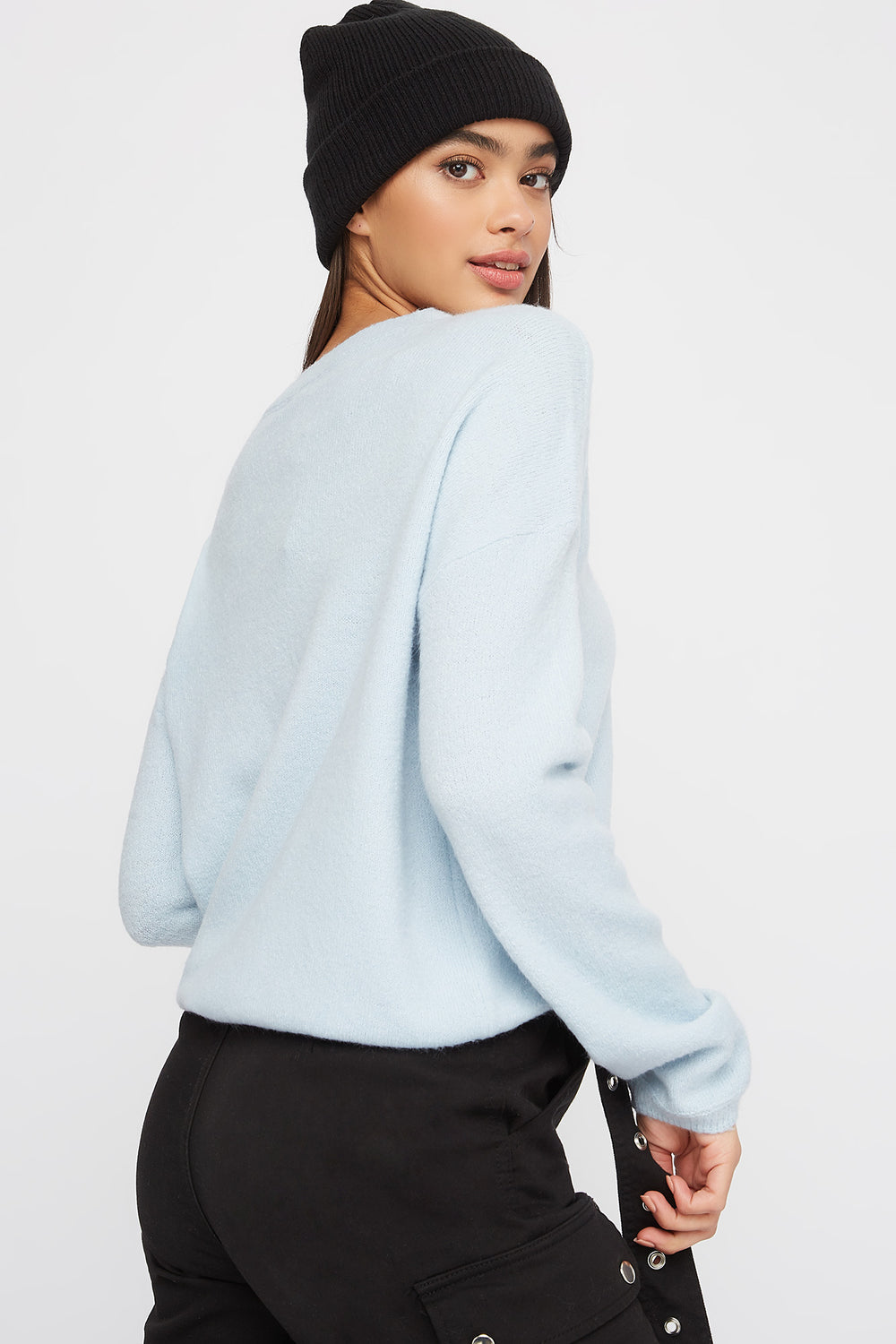Mossy Crew Neck Sweater Baby Blue