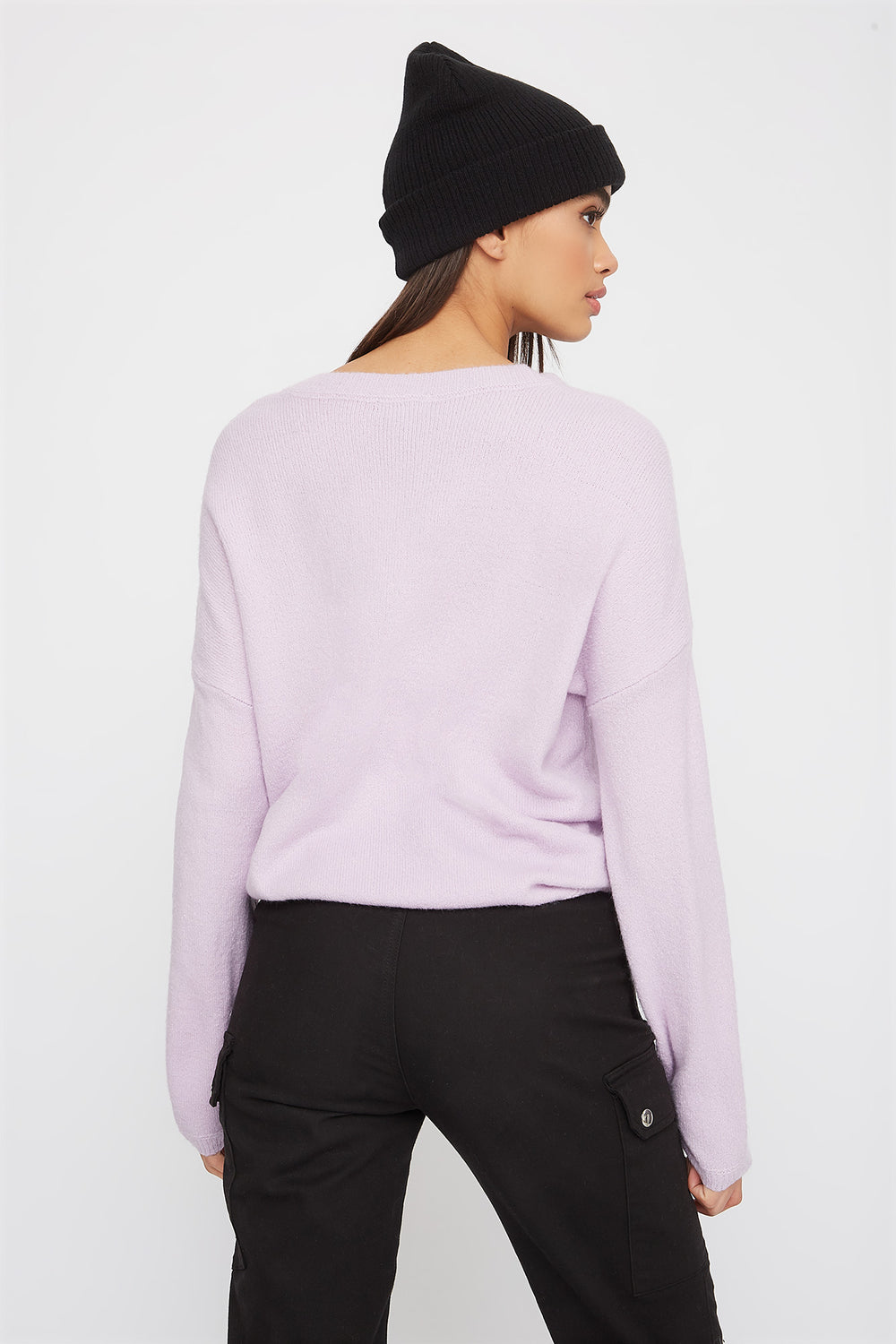 Mossy Crew Neck Sweater Lilac