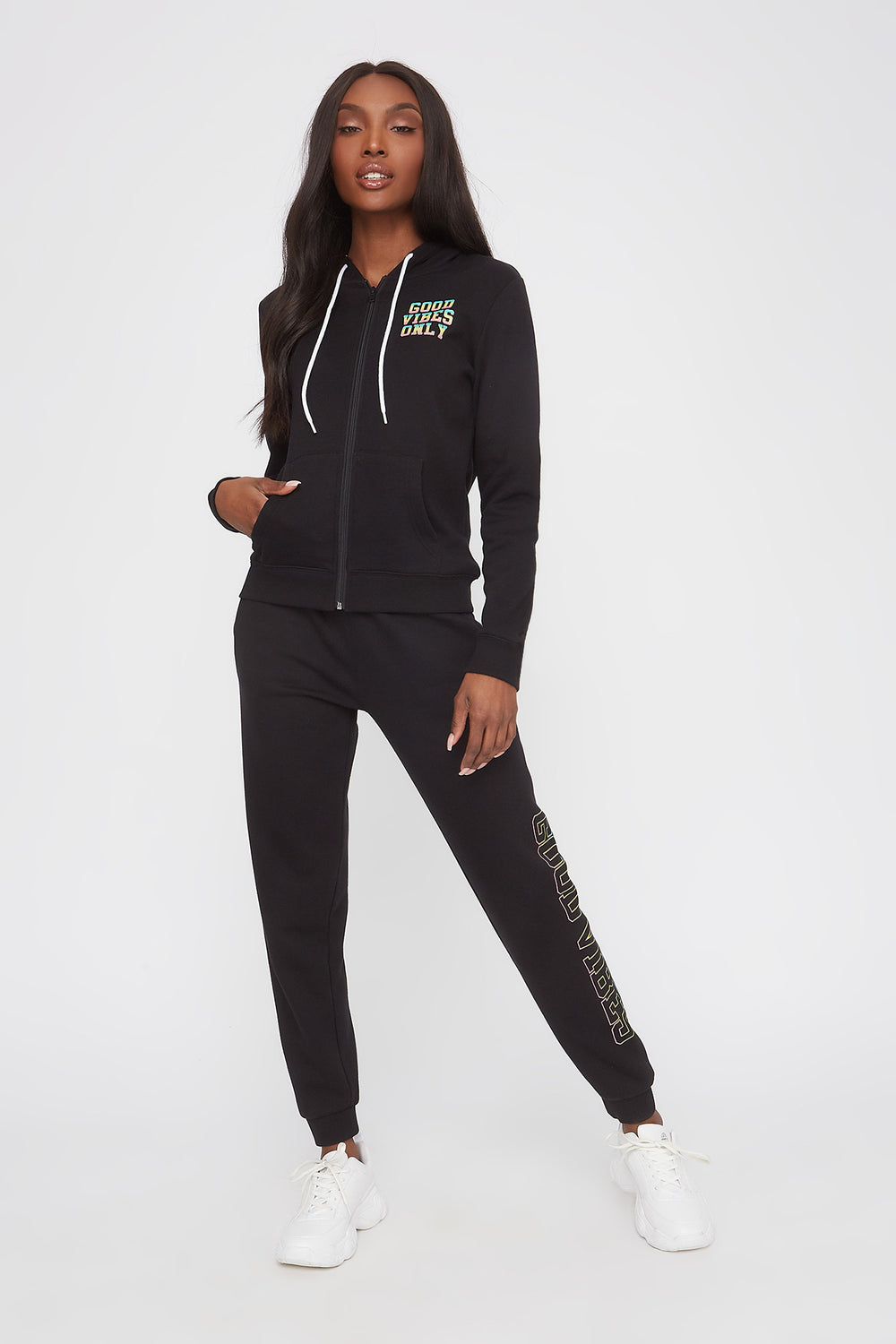 Graphic Classic Zip-Up Hoodie Black