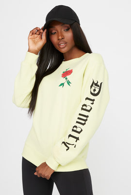 Dreamer Rose Boyfriend Crew Neck Sweatshirt