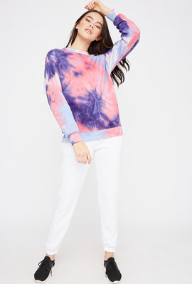 Tie Dye Boyfriend Crew Neck Sweater