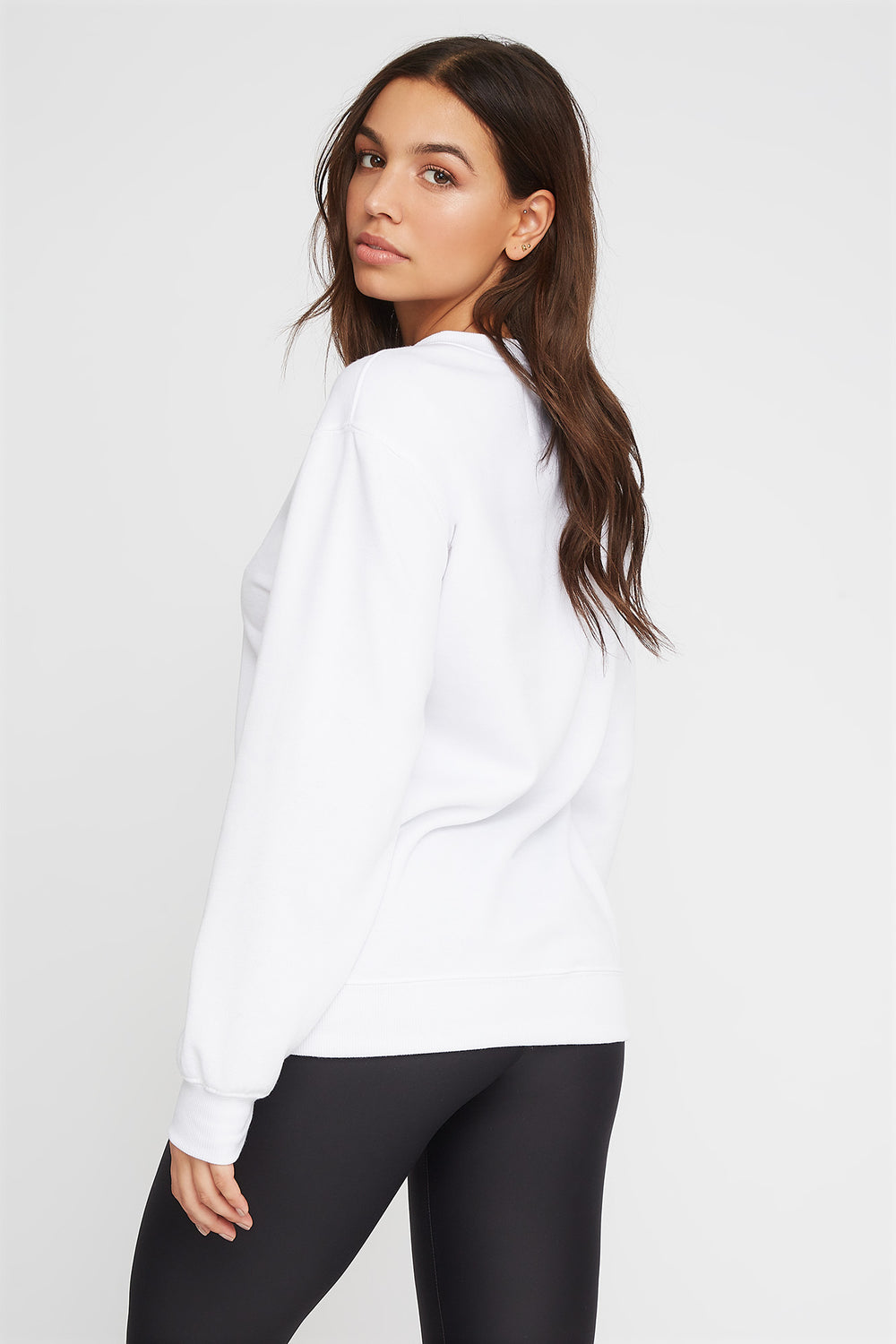 Soft Boyfriend Crewneck Sweater White
