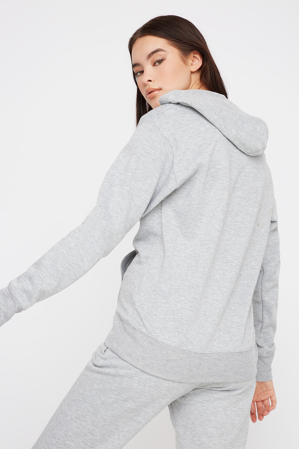 Fleece Boyfriend Hoodie Heather Grey