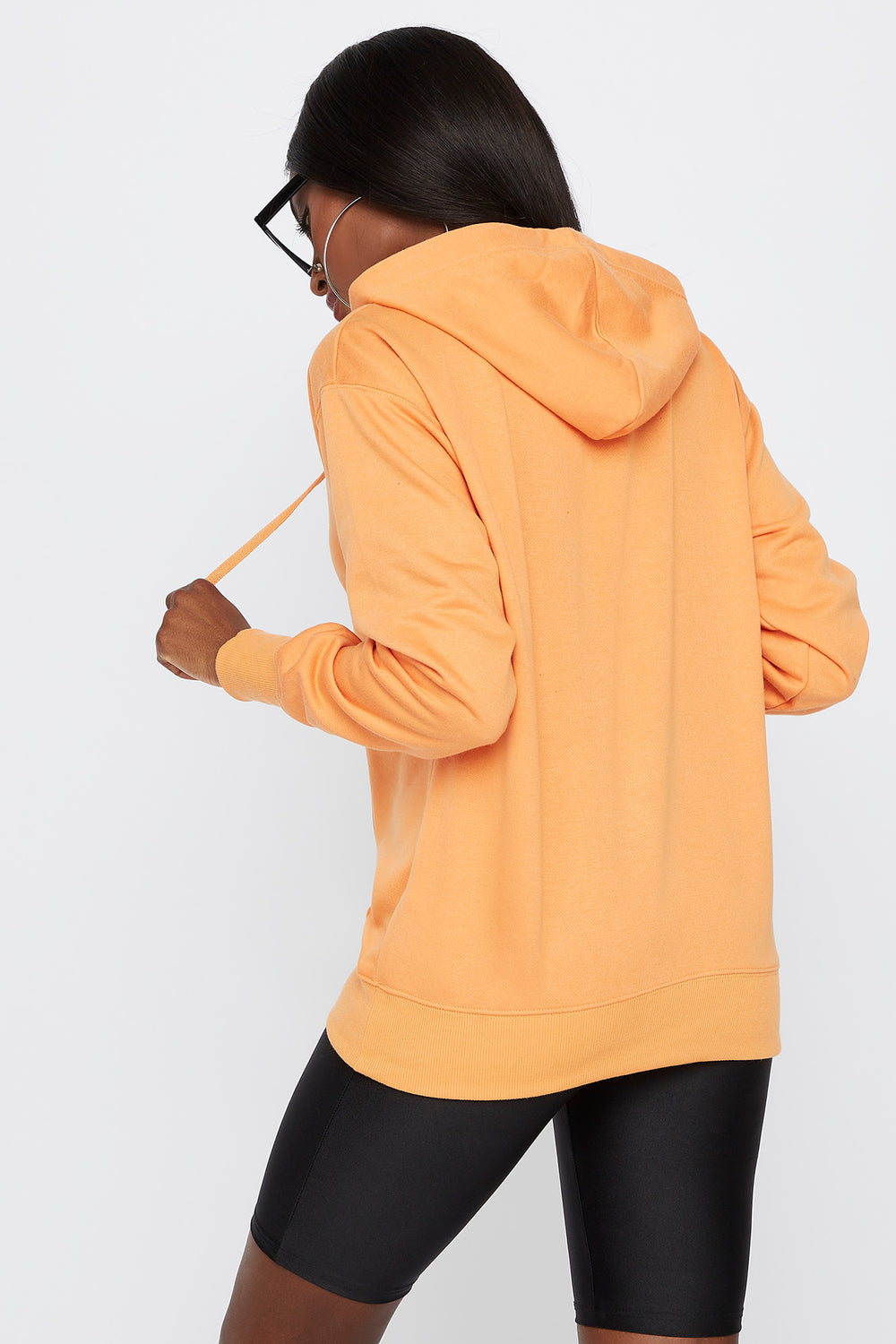 Fleece Boyfriend Hoodie Orange