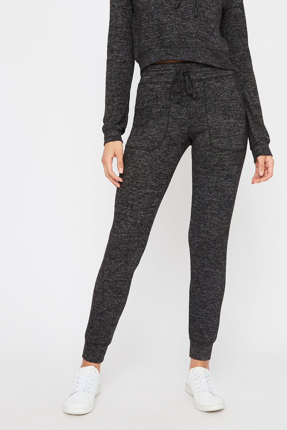Super Soft Brushed Pocket Jogger Charcoal