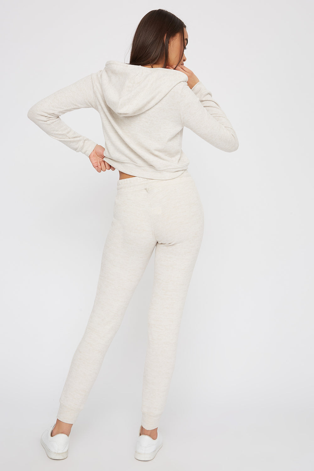 Super Soft Brushed Pocket Jogger Oatmeal