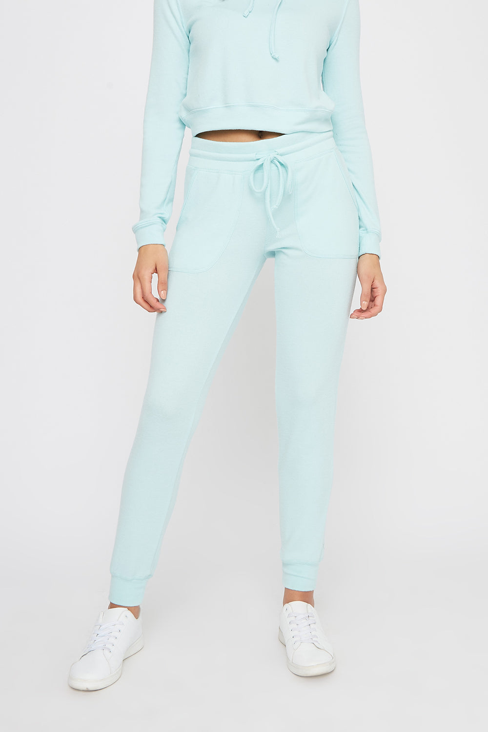 Super Soft Brushed Pocket Jogger Turquoise