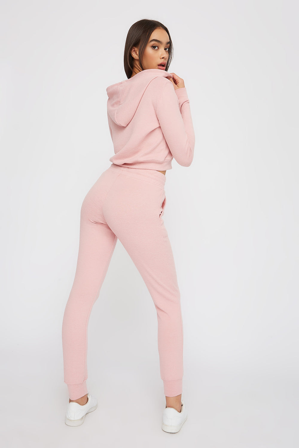 Super Soft Brushed Pocket Jogger Dusty Rose