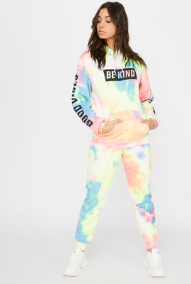 Fleece Tie Dye High-Rise Jogger