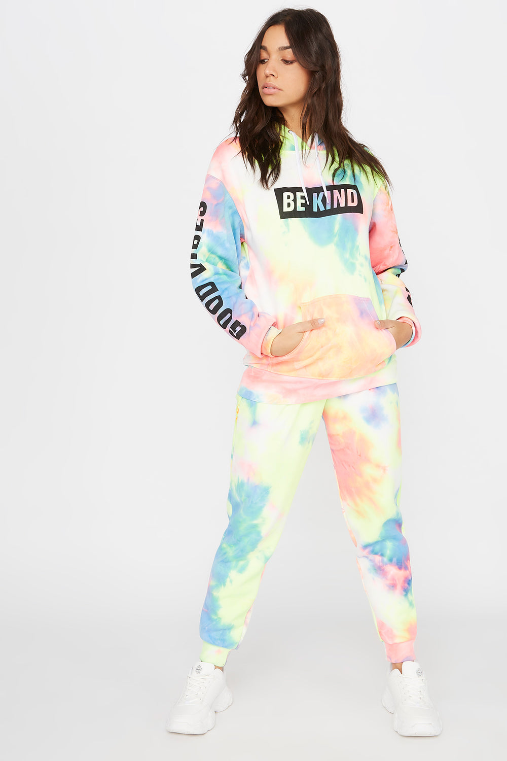 Fleece Tie Dye High-Rise Jogger Multi