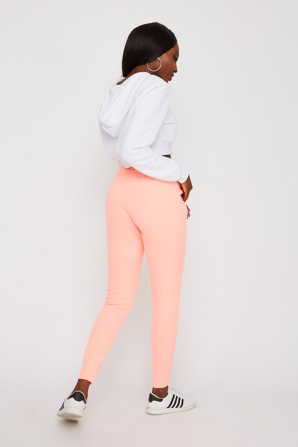 Soft Fleece Jogger Neon Pink
