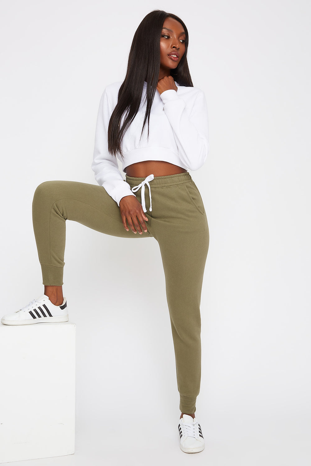 Soft Fleece Jogger Dark Green