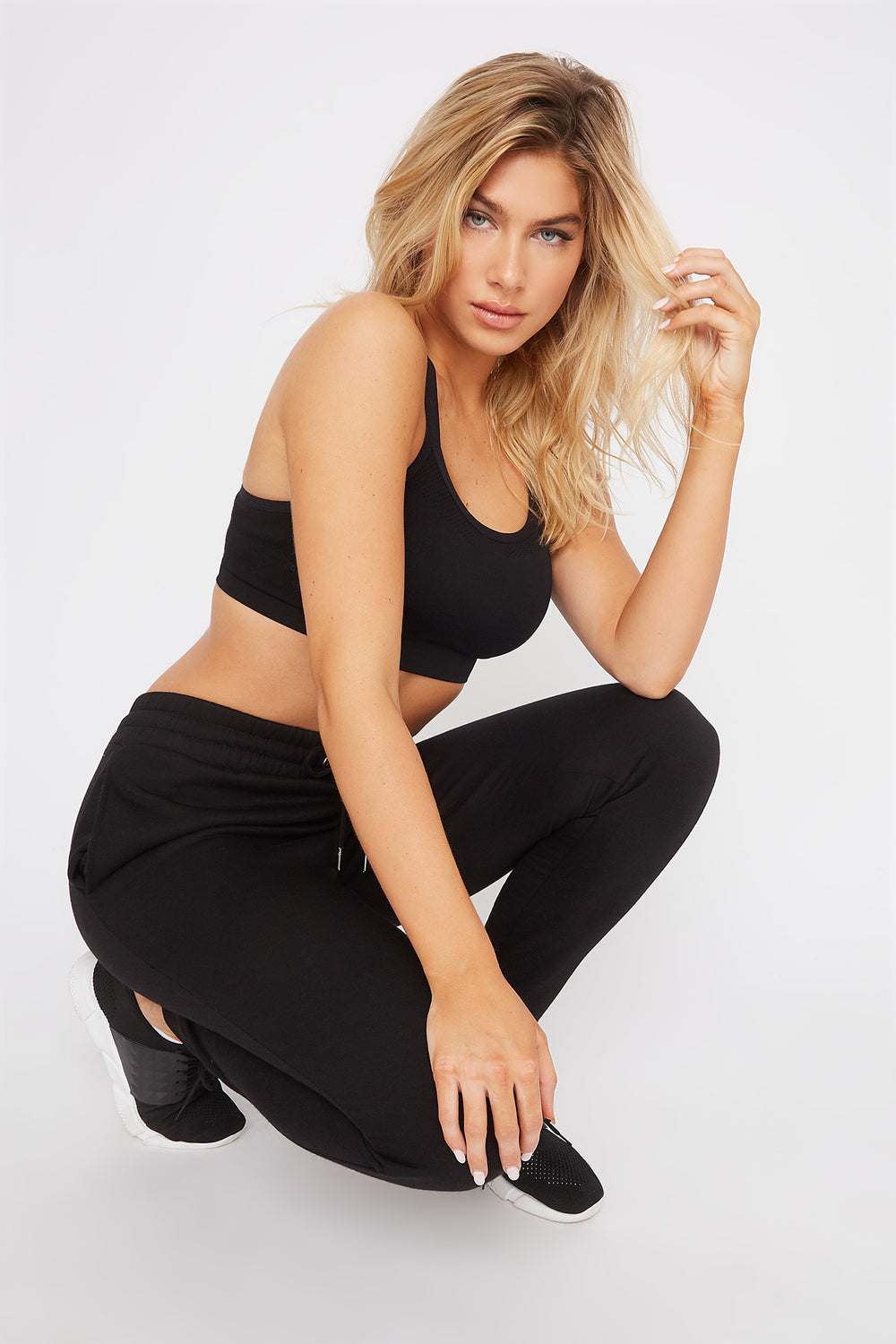 Fleece High-Rise Jogger Black
