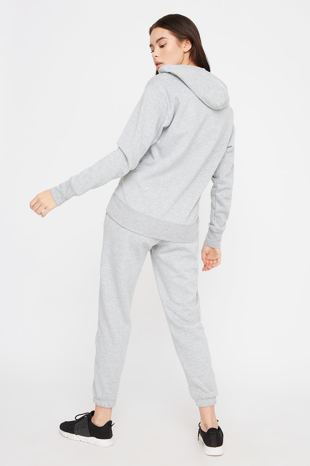 Fleece Boyfriend Jogger Heather Grey