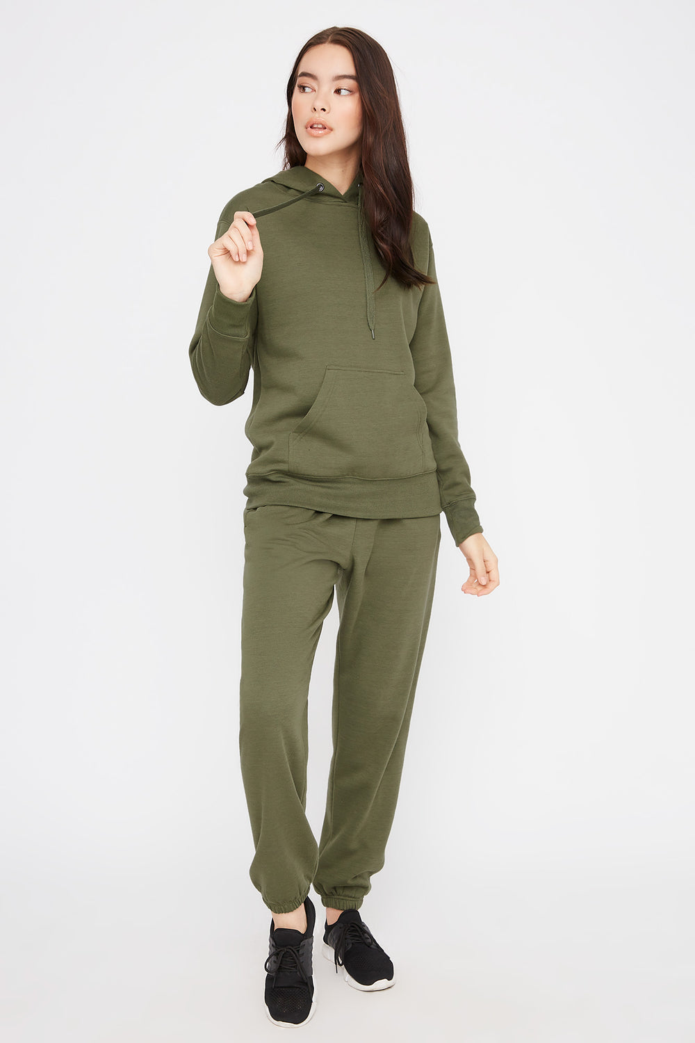 Fleece Boyfriend Jogger Dark Green