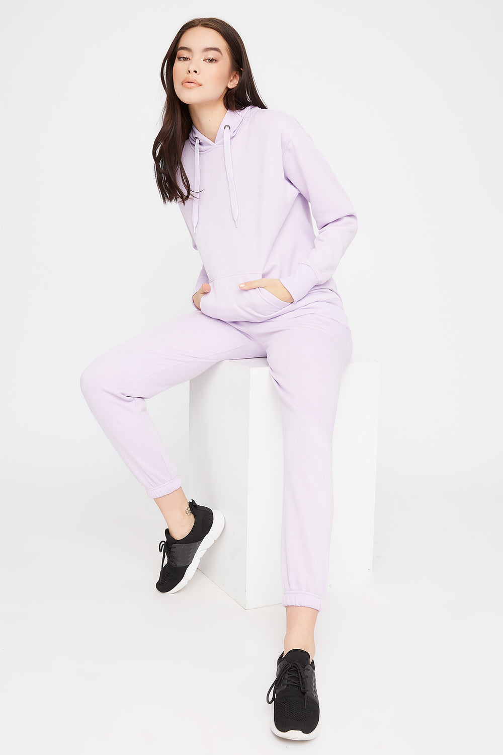 Fleece Boyfriend Jogger Lilac