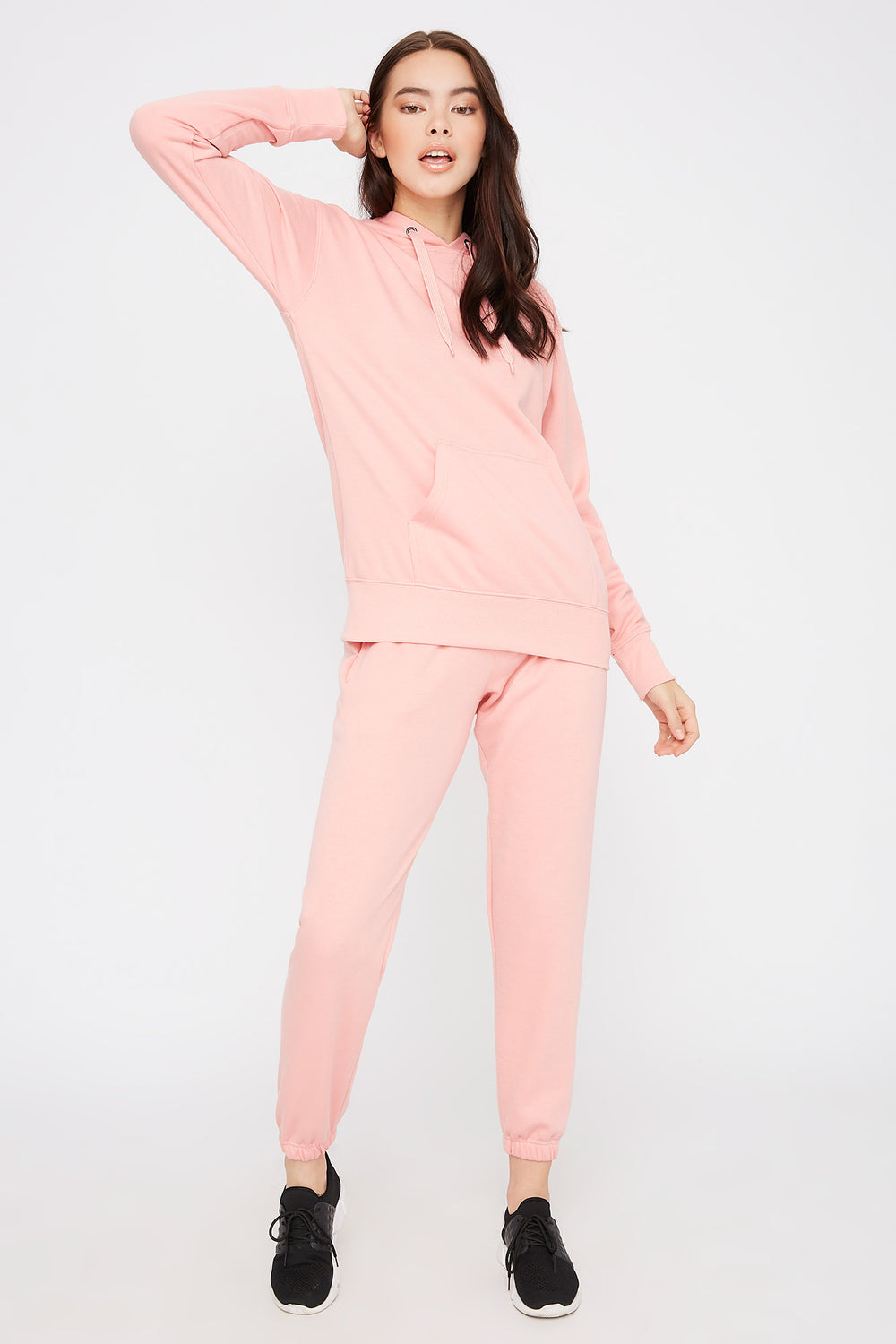 Fleece Boyfriend Jogger Light Pink
