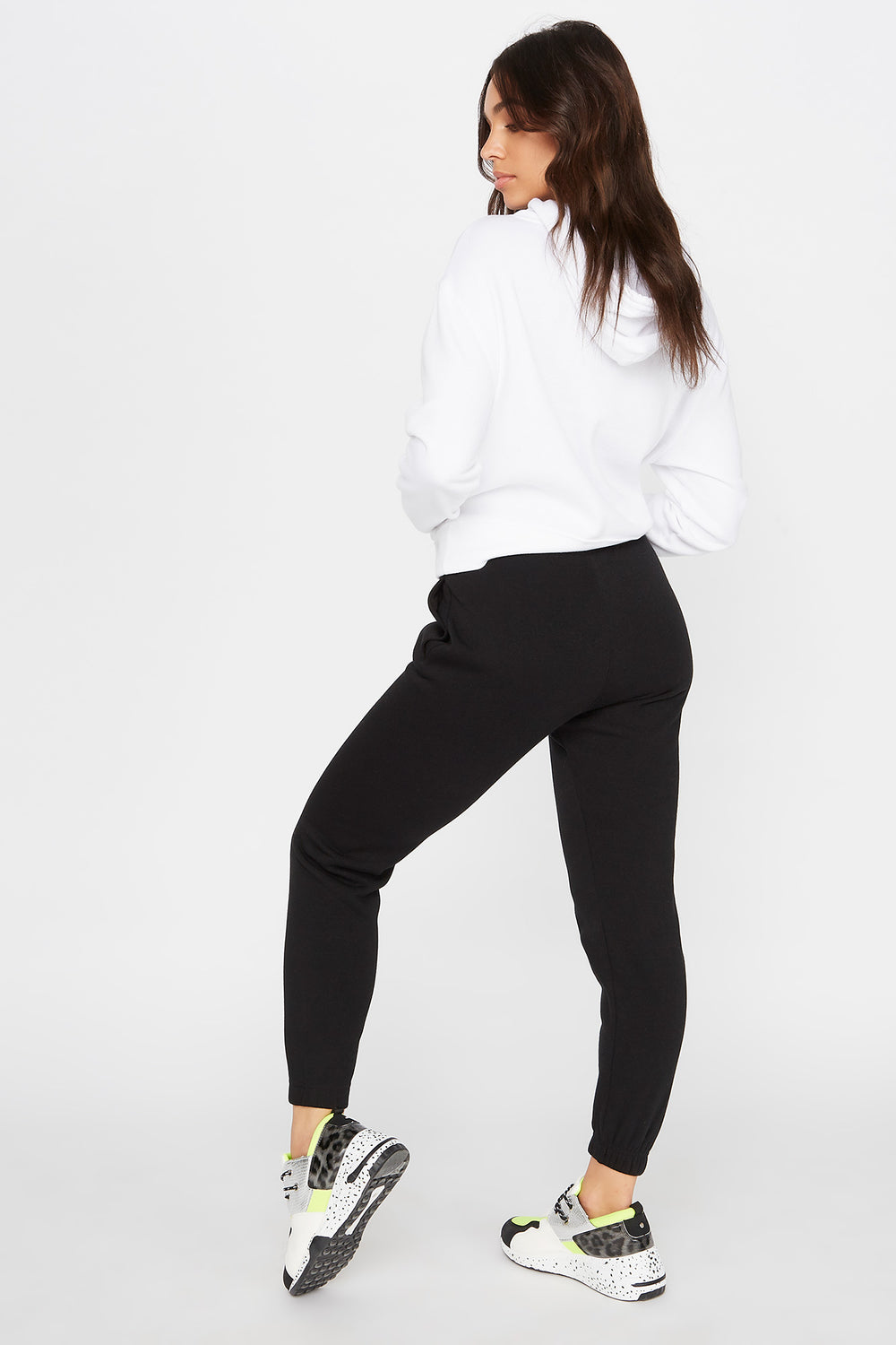 Fleece Boyfriend Jogger Black