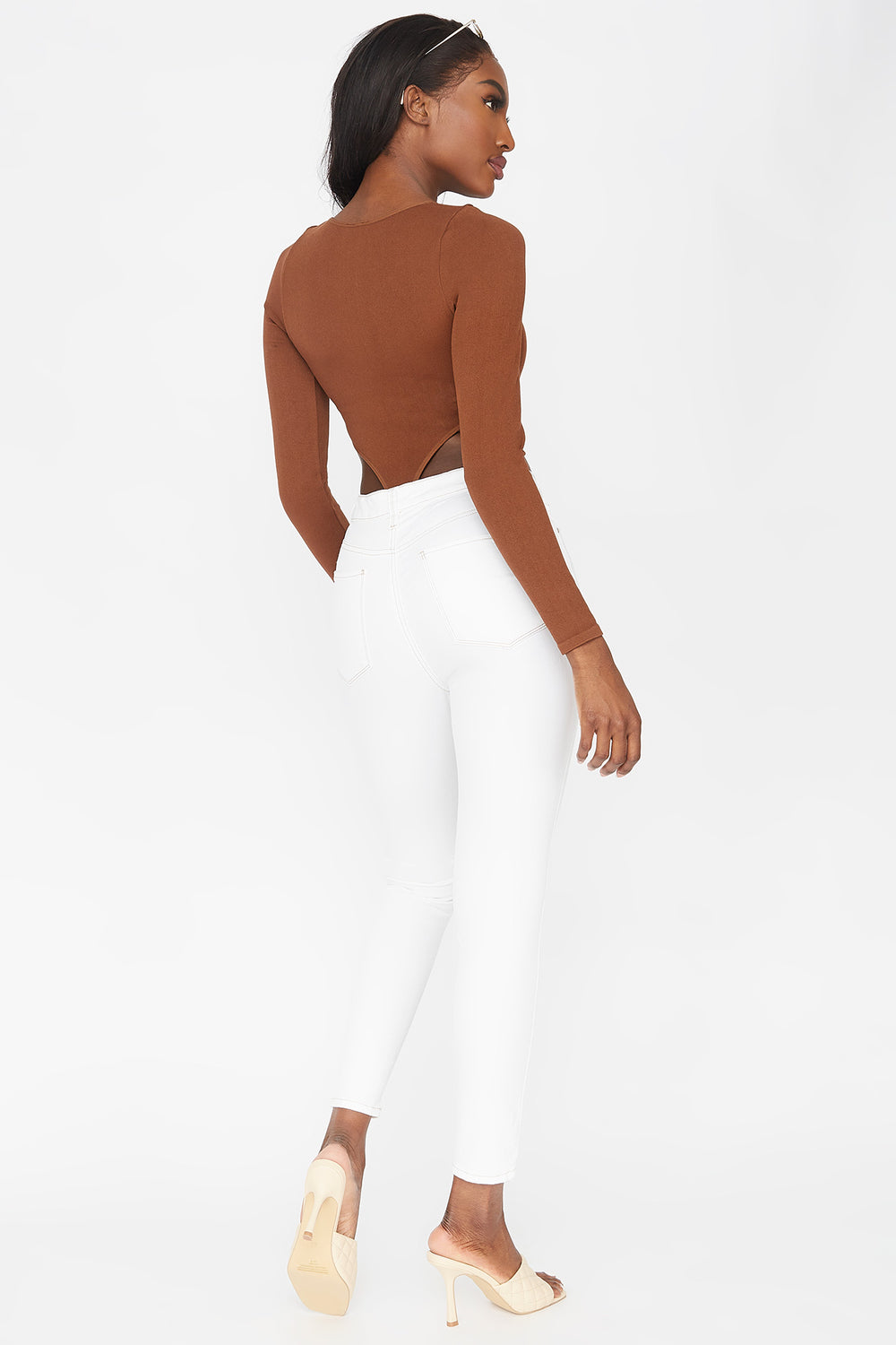 Refuge Miami High-Rise Coloured Skinny Jean White