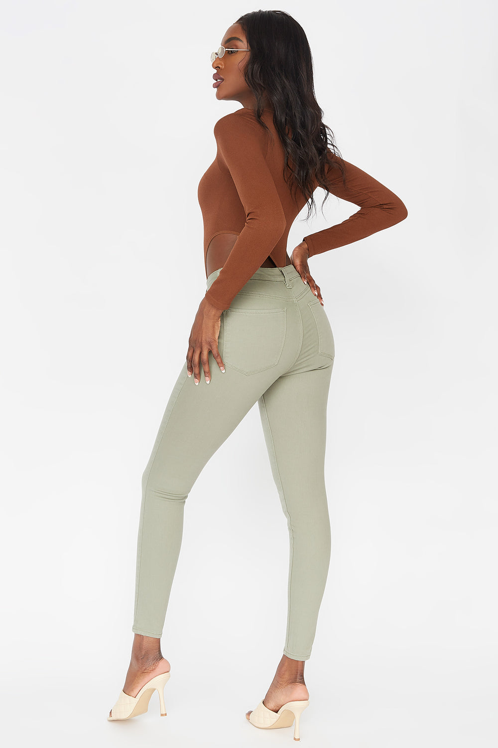 Refuge Miami High-Rise Coloured Skinny Jean Dark Green